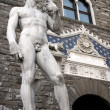 Micheangelo's David at the entrance of Pallazzo Vecchio, Florence, Italy. — Stock Photo