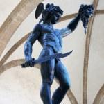 Perseus with the head of Medusa Gorgon in Loggia Lanzi, Piazza della Signoria, Florence, Italy — Stock Photo #28696151