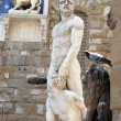 Statue of Hercules and Cacus by Bandinelli in front of Palazzo Vecchio in Florence, Italy — Stock Photo