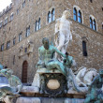 Fountain of Neptune on Piazza della Signoria, Florence, Italy — Stock Photo