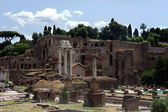Vew of Imperial Forum in Rome. Ancient Ruins of Rome,Italy — Stock Photo
