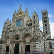 Duomo of Siena, Tuscany, Italy. Siena cathedral against a bright — Stock Photo