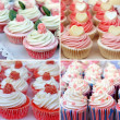 Sweet cucakes. Collage of four photos — Stock Photo