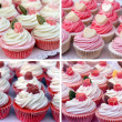 Sweet cucakes. Collage of four photos — Foto de Stock