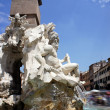 Fountain of the Four Rivers. Piazza Navona, Rome, Italy — Stock Photo