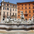 Fontana del Nettuno (Fountain of Neptune) in Piazza Navona, Rome, Italy — Stock Photo