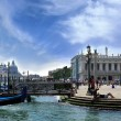 Gondolas at the Doge's Palace, Venice, Italy — Foto Stock