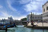 Gondolas at the Doge's Palace, Venice, Italy — Stock Photo