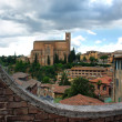 Постер, плакат: Historical town of Siena with San Domenico Tuscany Italy