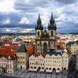 Church of our Lady - Tyn Church in old town of Prague, Czech Rep — Stock Photo