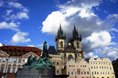 Old Town Square (Staromestske namesti), Church of our Lady and J — Stock Photo