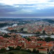 Panoramic view of Prague and bridges crossing the Vltava river — Stock Photo