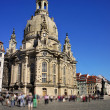 The Dresden Frauenkirche (Church of Our Lady) - Lutheran church — Stock Photo