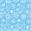 Christmas snowflakes background. Seamless snowflakes pattern — Stock Vector