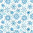 Christmas snowflakes background. Seamless snowflakes pattern — Vettoriali Stock