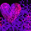 Vector disco heart  — Stockvectorbeeld
