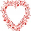 Floral Love Shape. Vector Heart with floral ornament  — Stockvektor