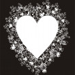 Floral Love Shape. Vector Heart with floral ornament — Vector de stock