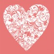 Floral Love Shape. Vector Heart with floral ornament  — Stok Vektör