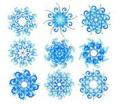 Snowflake set. Winter elements for design — Stock Vector