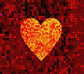 Вектор диско сердце — Cтоковый вектор