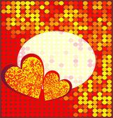 Vektor disco hjärta — Stockvektor