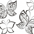 Set of butterflies tattoo  — Stock Vector