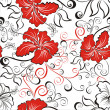 Seamless hawaiian pattern wallpaper  — Grafika wektorowa