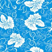 Seamless hawaiian pattern wallpaper — Stock Vector