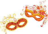 Masks for a masquerade. Vector party mask. — Stock Vector
