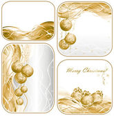 Set christmas background — Stock Vector