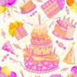 Happy birthday seamless background pattern.  — Stock Vector