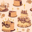 Happy birthday seamless background pattern. — Stockvectorbeeld
