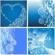 Set Christmas background — Stock Vector #34942447