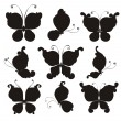 Set silhouettes of butterflies — Stock Vector #35169651
