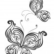 Set of butterflies tattoo — Stock Vector #35169673