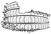 Colosseum in Rome, Italy — Stock Vector