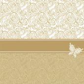 старинный фон с цветочным узором. — Cтоковый вектор