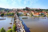 Blick auf die kleinere brücke turm von charles brücke, prag, tschechische republik — Stockfoto