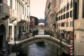 Bridges on the narrow canals of Venice, Italy — Stock Photo