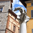 Symbol of Rome - Wolf, Romulus and Remus in Siena, Italy. — Stock Photo