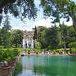 Fountain in Villa d'Este in Tivoli, Italy, Europe — Stock Photo #38481687