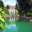 Fountain in Villa d'Este in Tivoli, Italy, Europe — Stock Photo