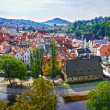 Stock Photo: Panoramof Cesky Krumlov.Czech republic. UNESCO World Heritage