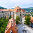 Castle in Cesky Krumlov, Czech Republic, UNESCO World Heritage S — Stock Photo