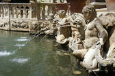 Detailed view of the Organ Fountain in Villa d'Este. Tivoli, Ita — Stock Photo