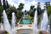 Fountain in Villa d'Este in Tivoli, Italy, Europe — Stock Photo