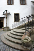 Staircase of St. Vitus Church in Cesky Krumlov, Czech Republic. — Stock Photo