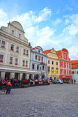 CESKY KRUMLOV, Svornosti square. The city was given a UNESCO World Heritage Site status in 1992. — Stock Photo