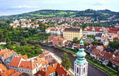 Panorama of Cesky Krumlov.Czech republic. UNESCO World Heritage — Stock Photo